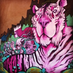 Purple Tiger and Elephant